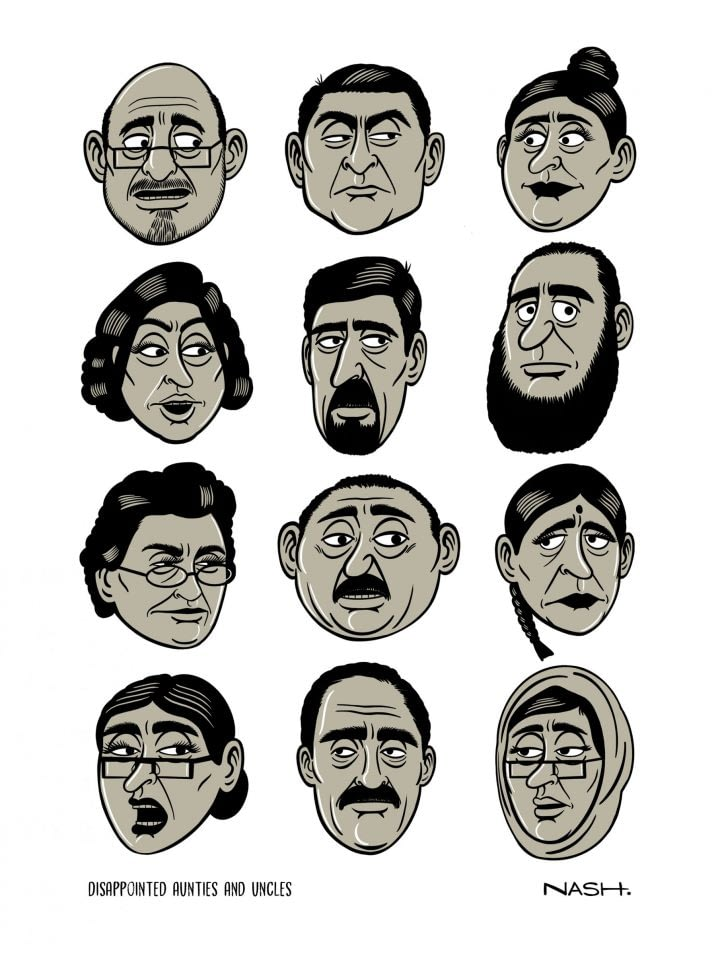 Disappointed Aunties and Uncles Sticker Pack