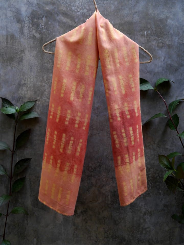 Resist-Dyed Shawl