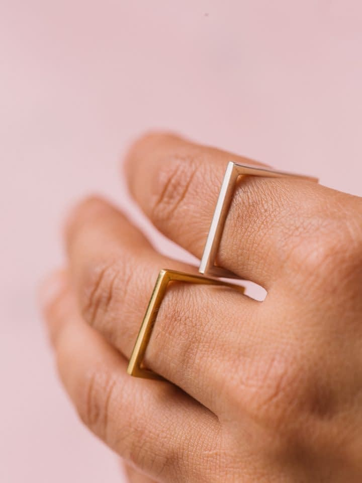 Vira Square Ring - Silver
