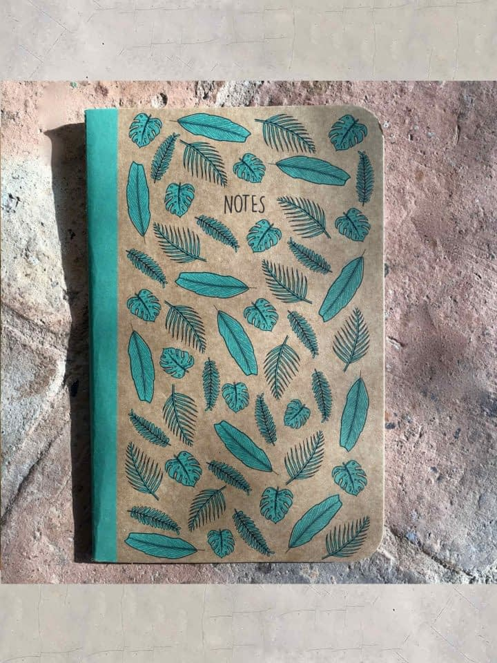 Leaf Print Notebook