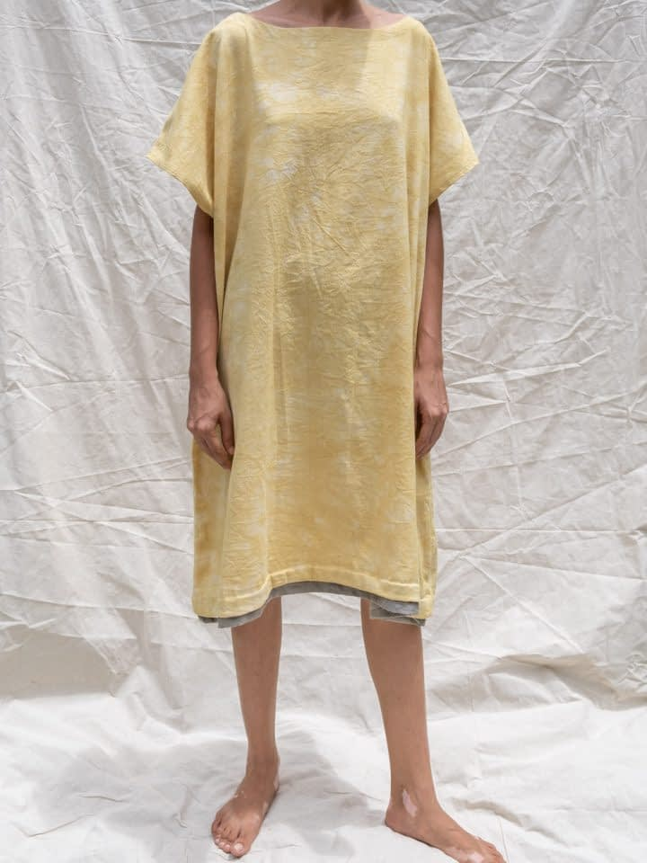 This Stain Over Sized Butter Yellow Dress