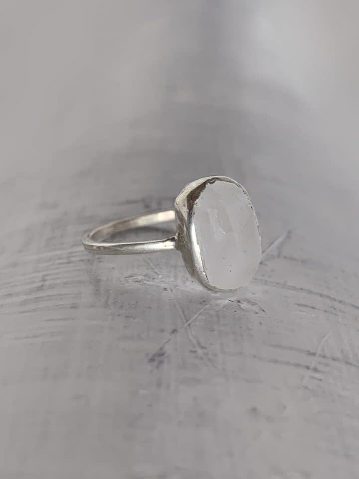Oval Moonstone Ring