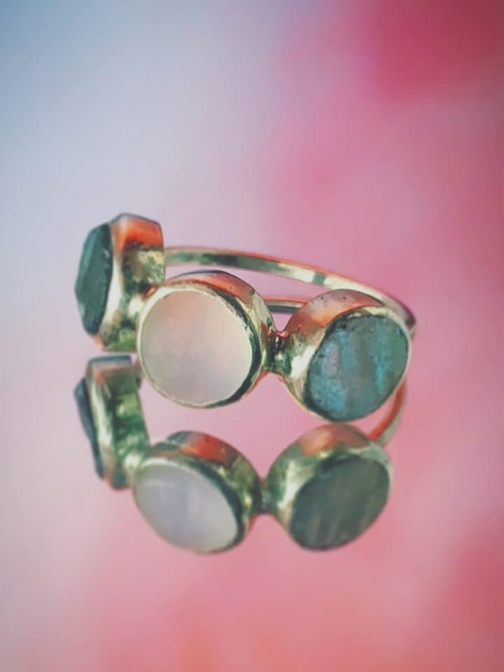 Triple Moon Ring