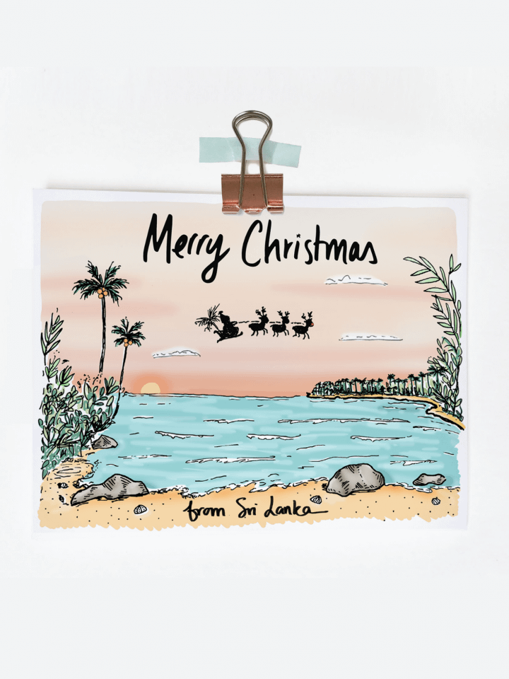 Beach Christmas Card