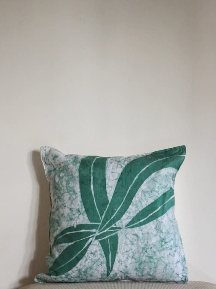 Tangled Tropical Batik Cushion Cover