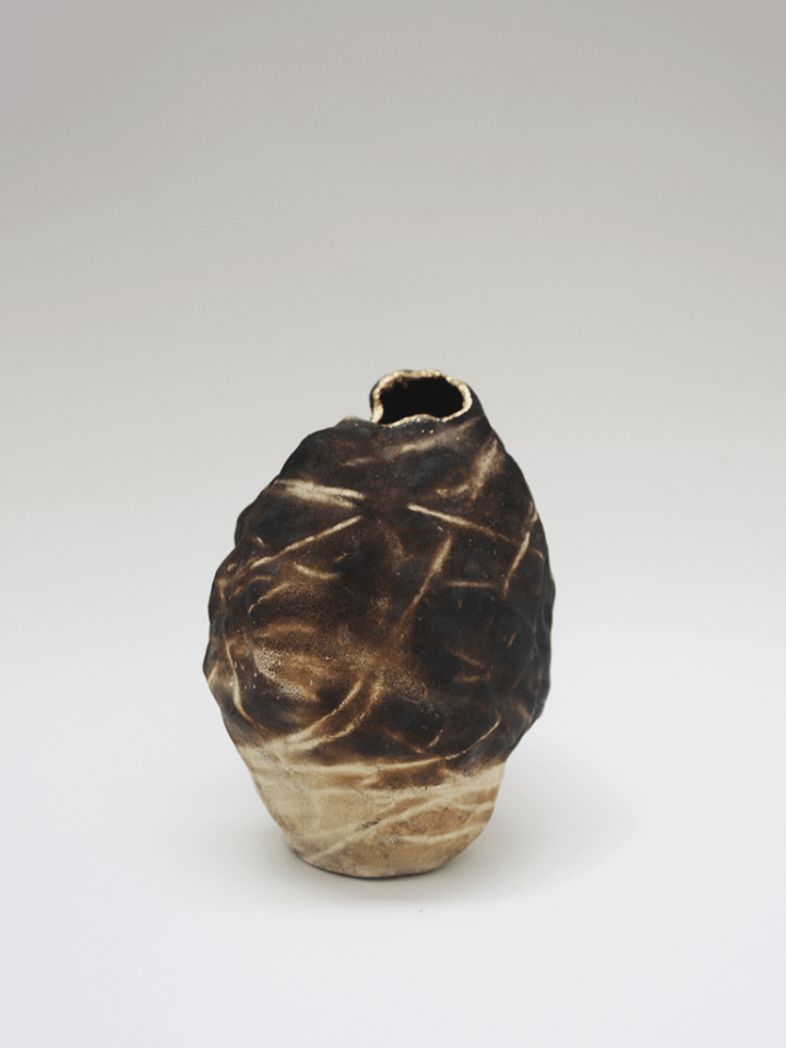 Burnt cloud vase