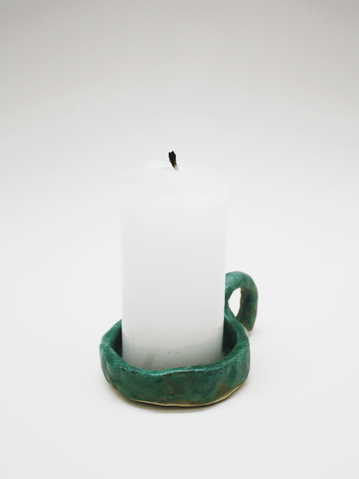 Cupric candle holder