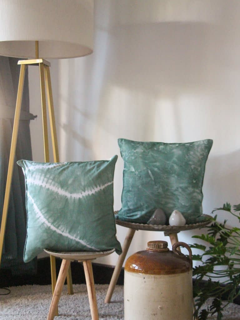Paths in Tie-Dye Cushion Cover
