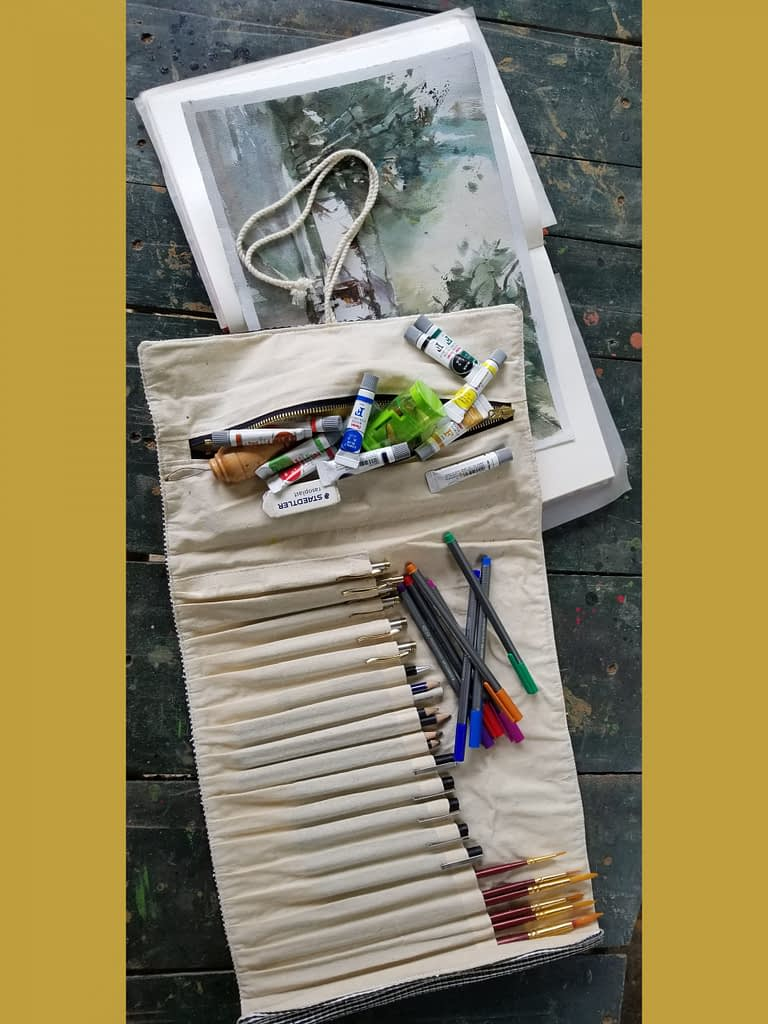 Upcycled Plastic Roll-Up Bag