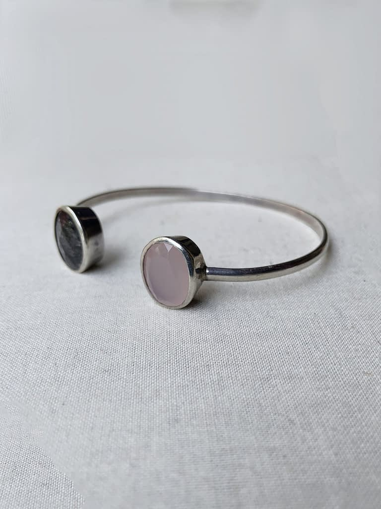 Rose Quartz and Rutilated Quartz Bracelet