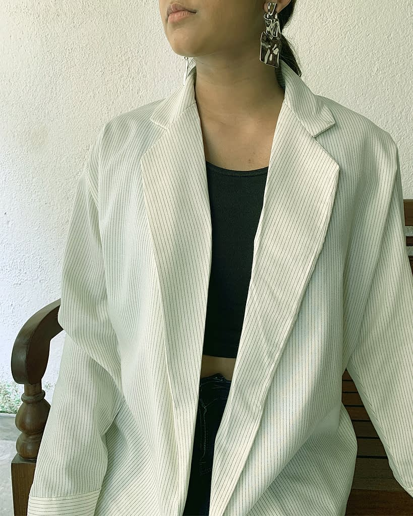 Oversized Blazer - Pinstripes
