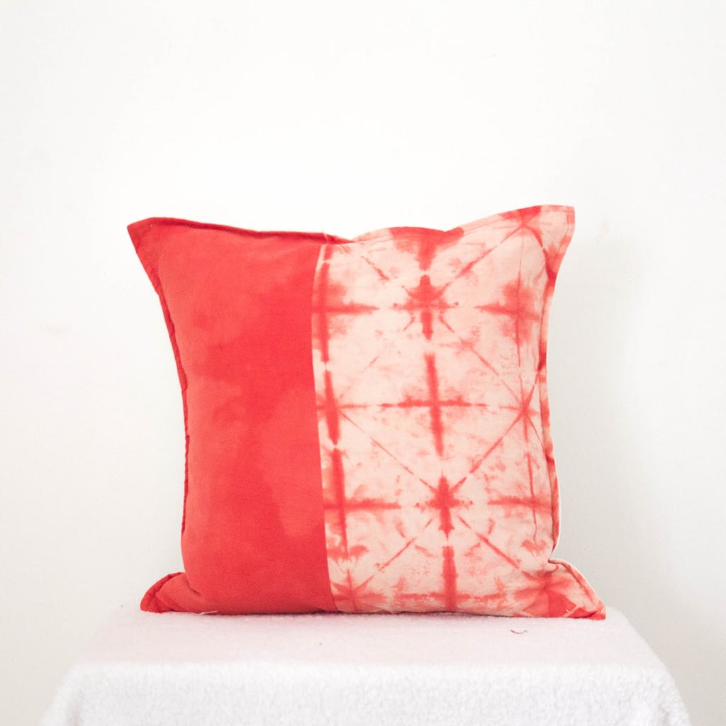 Upcycled Scarlet Cushion Cover II