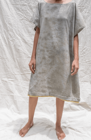 Stain Over Sized  Green Grey Dress