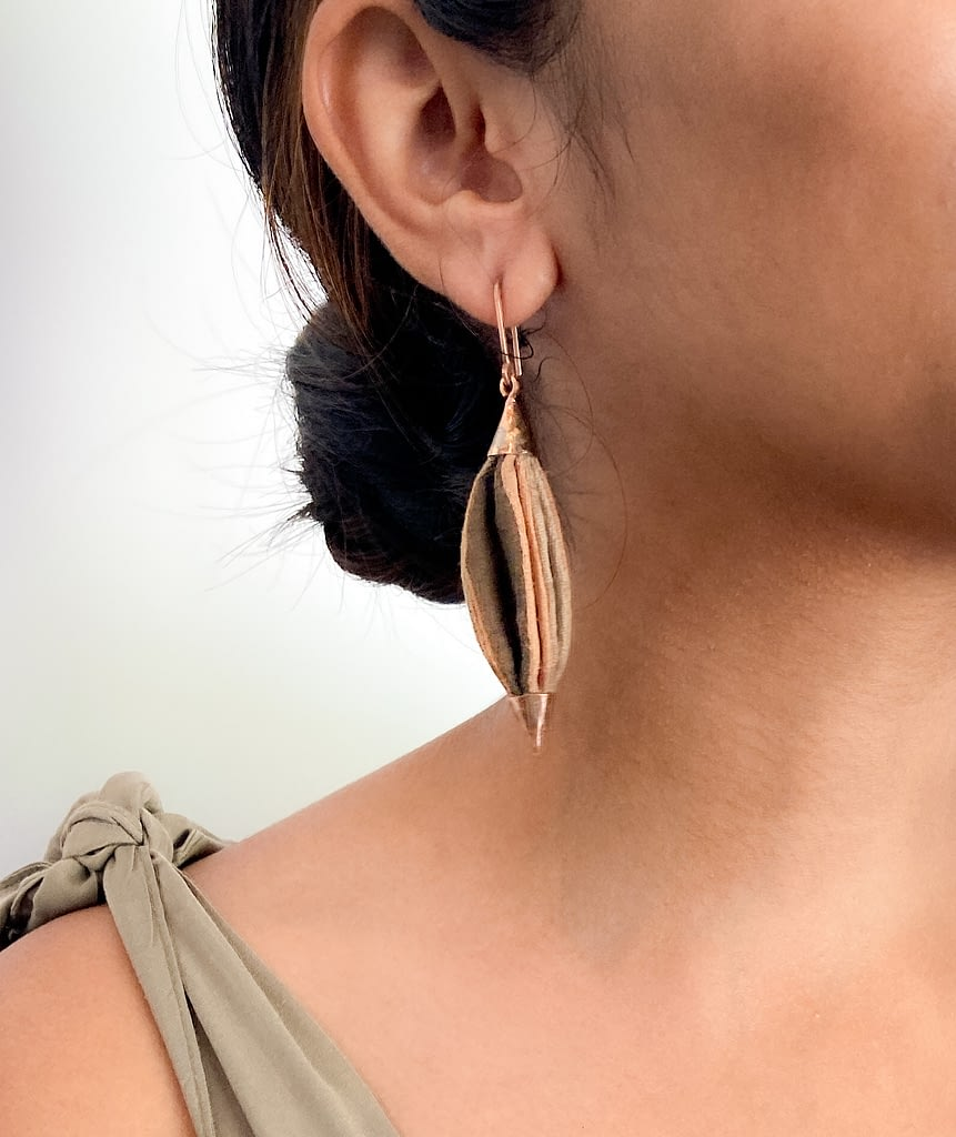 Naturally Dyed Drop Earrings